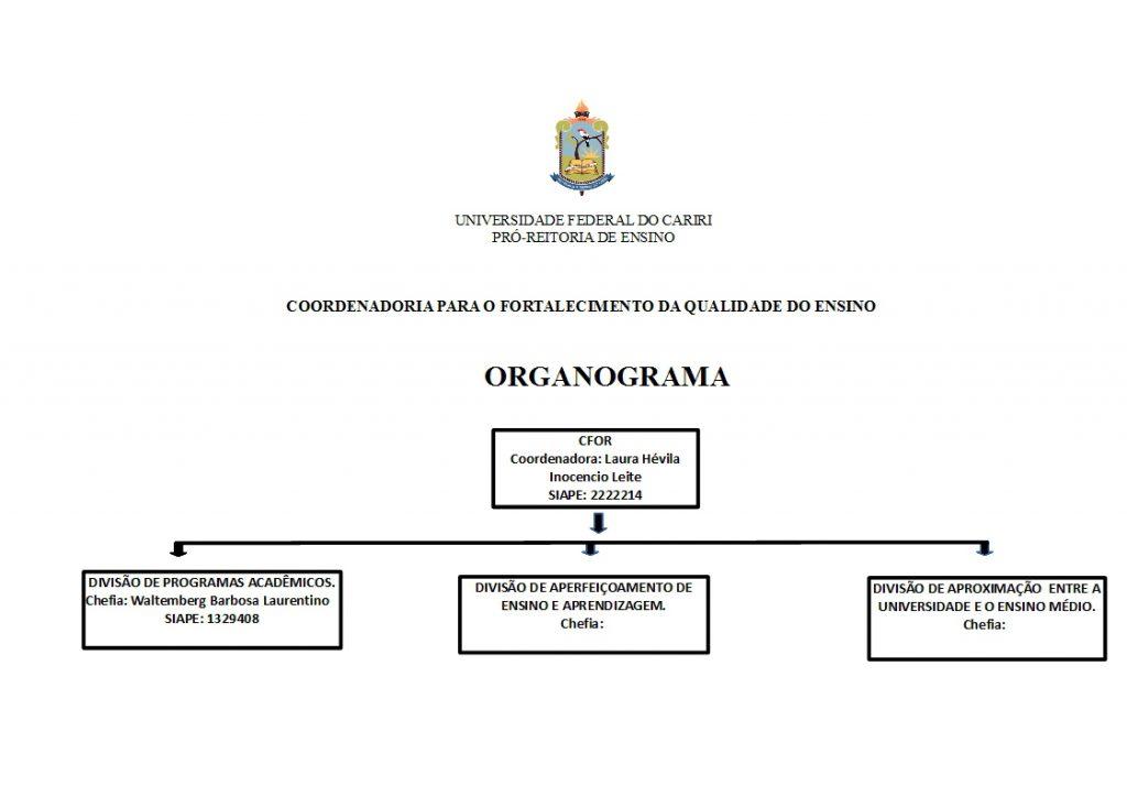 sugestão de novo Organograma